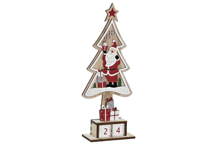 Calendario madera 11x5x28 papa noel surtido
