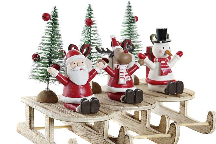 Decoracion trineo navidad surtido de madera