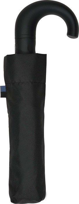 Paraguas mini caballero negro automatico con funda