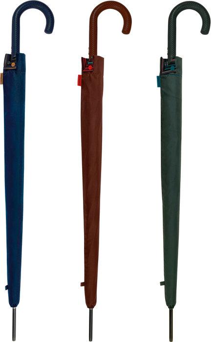 Paraguas largo caballero colores lisos con funda 3 mod surt