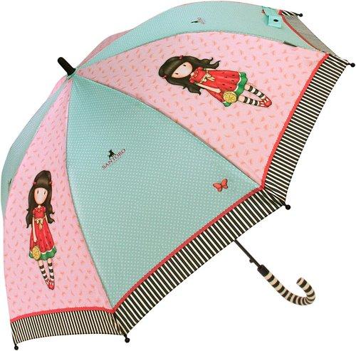 Paraguas gorjuss largo infantil rosa turquesa