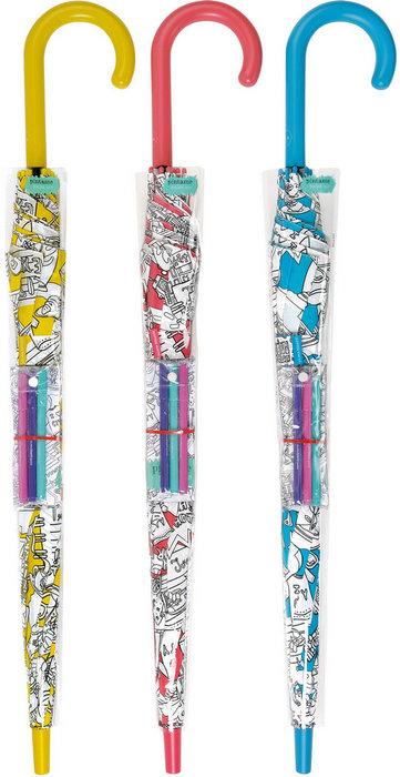 Paraguas bisetti paint largo juvenil automatico 34199