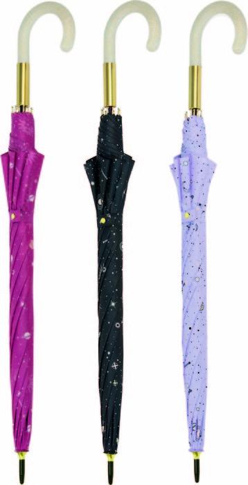 Paraguas largo sra universo 3 colores surtidos