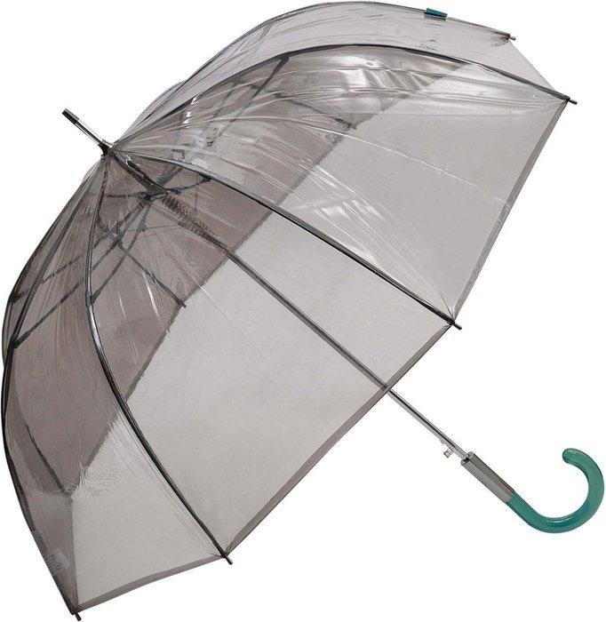 Paraguas largo sra pvc transparente fume