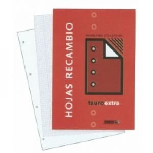 Recambio folio 80h 4 taladros milimetrado