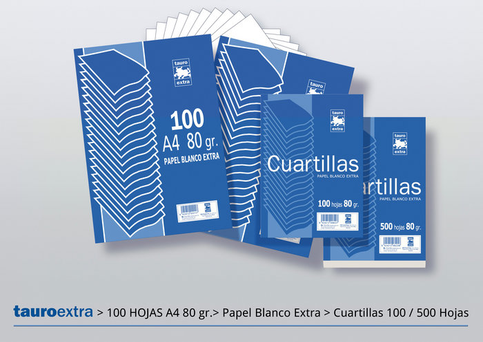 Papel 4º 80gr 500h liso tauro extra
