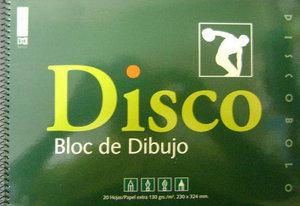 Bloc dibujo folio disco 170 sin recuadro espiral