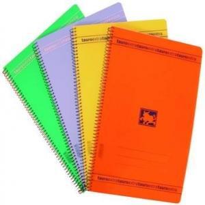 Bloc espiral folio 80h pp pauta 3.5 90gr colores surtidos
