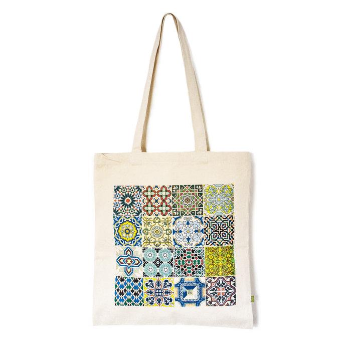 Bolsa tela azulejos traditional tiles canvas