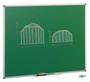 Pizarra verde 122x100 marco aluminio 11vs-3