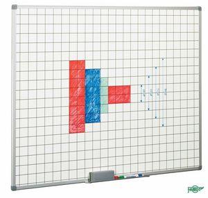 Pizarra blanca cuadriculada 5x5cm 122x150 marco aluminio