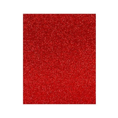 Lamina goma eva 20x30 rojo efecto purpurina