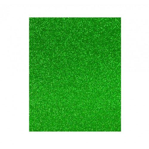 Lamina goma eva 20x30 verde efecto purpurina