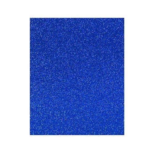 Lamina goma eva 20x30 azul efecto purpurina
