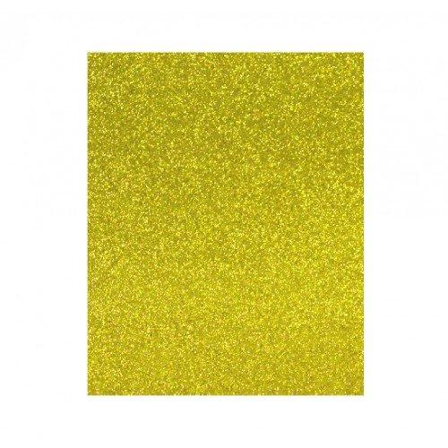 Lamina goma eva 20x30 oro efecto purpurina