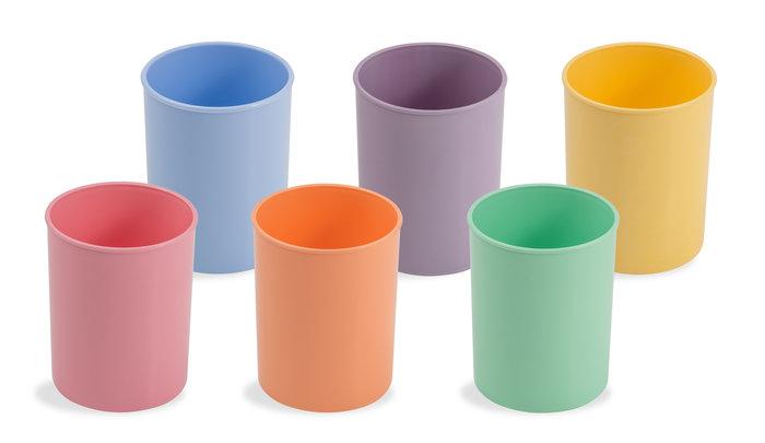 Cubilete plastico violeta pastel