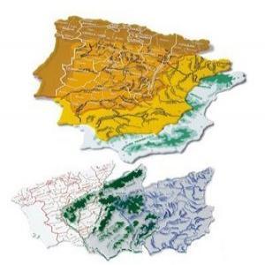 Plantilla mapa españa grande 250g b/3 surtidos