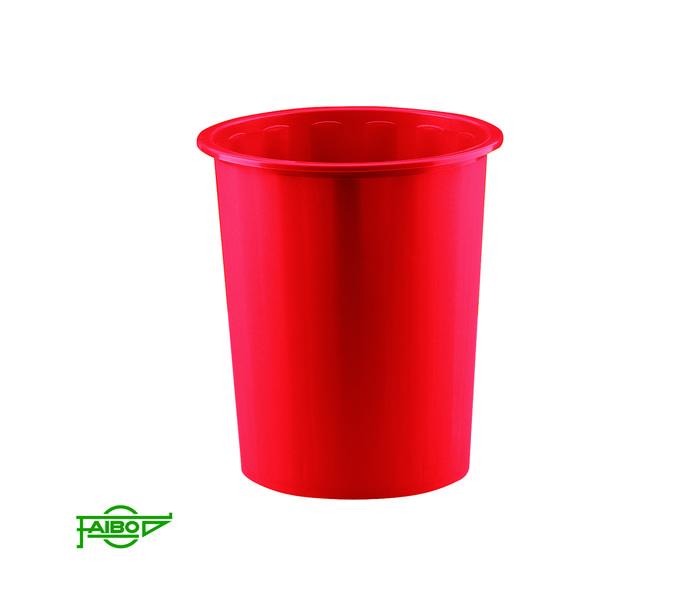 Papelera plastico 305 cubierta rojo