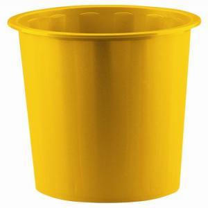 Papelera plastico 305 cubierta amarilla