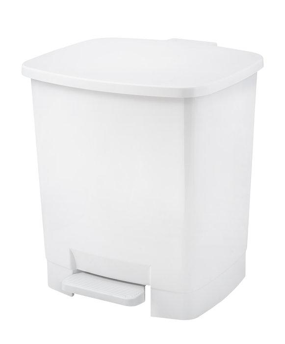 Papelera de pedal blanco capacidad 22 litros
