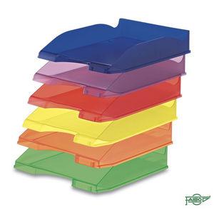 Bandeja plastico 93 apilable translucida verde