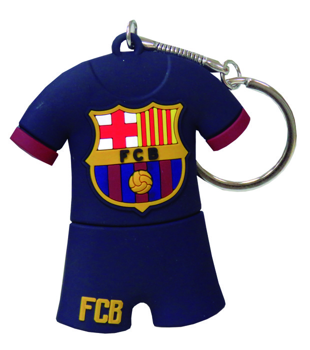 Pendrive rubber camiseta fc barcelona