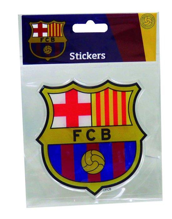 Stickers relieve escudo 10x10cm fc barcelona