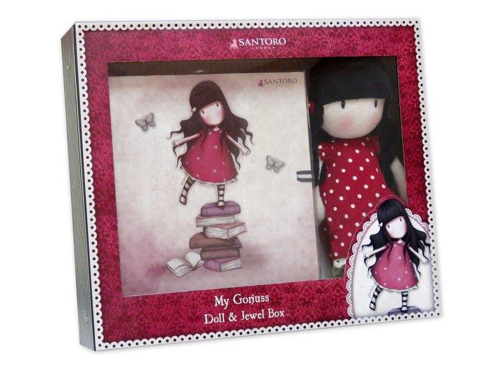 Set regalo muÑeca y joyero libro gorjuss new heights