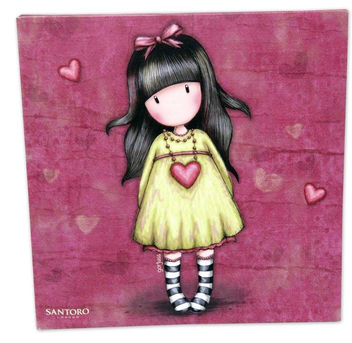 Lienzo 25x25 cm gorjuss heartfelt