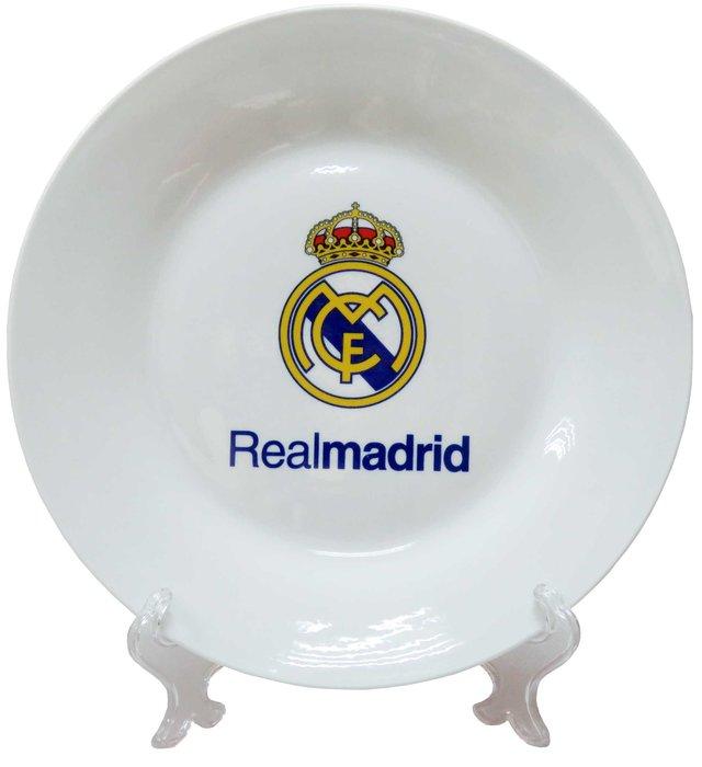 Plato de ceramica con soporte real madrid