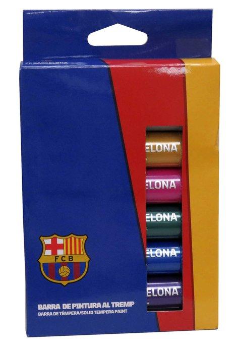 Temperas en barra de colores metalicos fc barcelona 6 uds