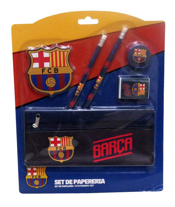 Set de papeleria con portatodo fc barcelona