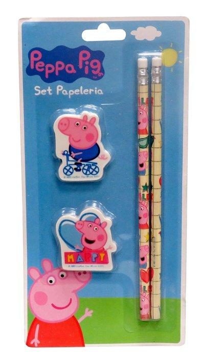 Set de papeleria peppa pig