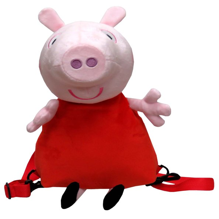 Mochila peluche 3d peppa pig - peppa