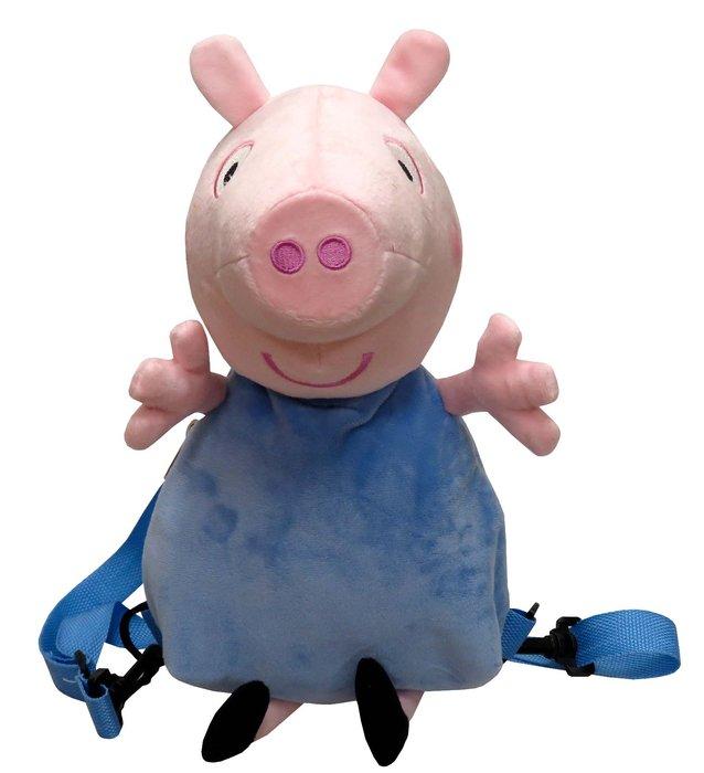 Mochila peluche 3d peppa pig - george