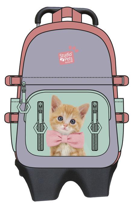 Mochila con trolley gato - studio pets