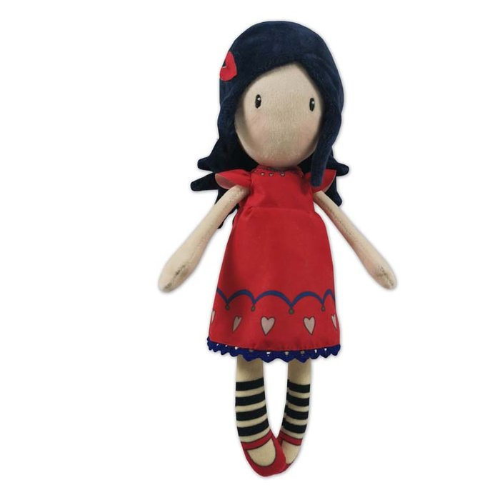MuÑeca de trapo 30 cm en display gorjuss - love grows