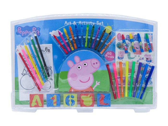 Set de actividades con 60 piezas en blister peppa pig