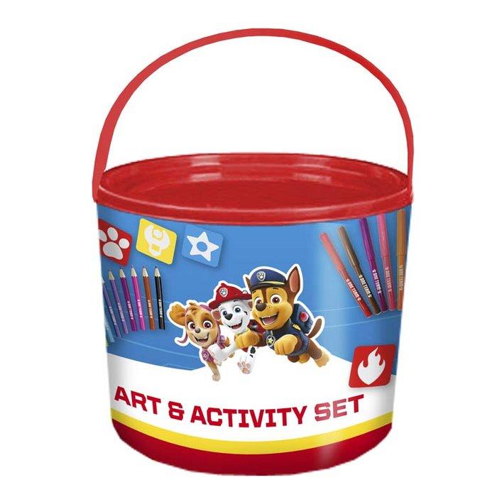 Set de actividades 46 piezas en cubo patrulla canina