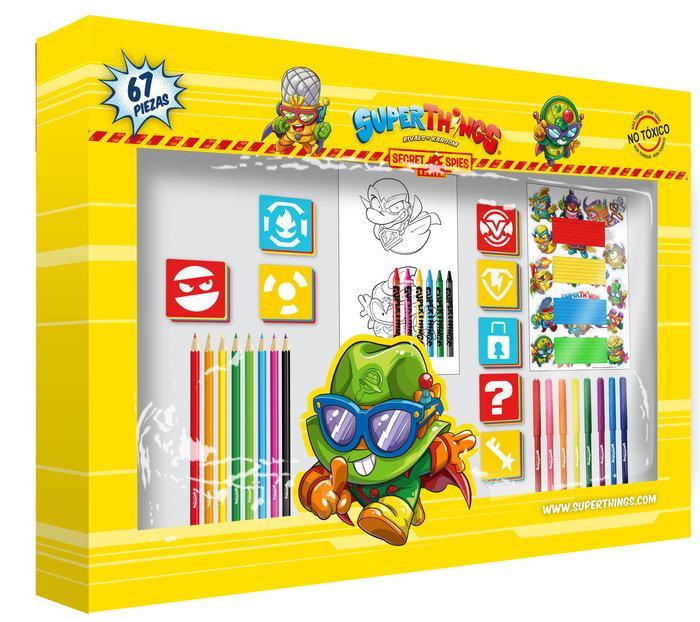 Set de actividades con 67 piezas en caja superzings