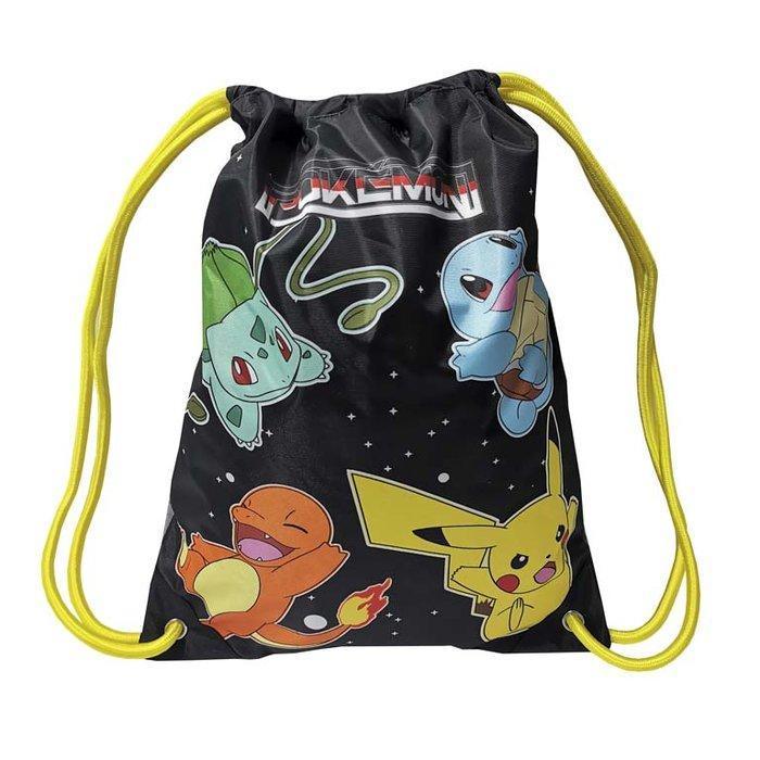 Mochila saco 34x44 cm pokemon