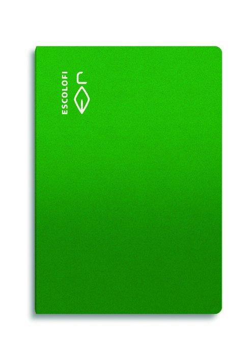 Libreta folio 50 hojas 70gr cuadro 5x5 margen verde