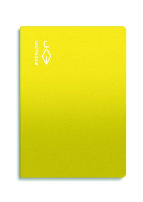 Libreta folio 50 hojas 70gr horizontal margen amarillo