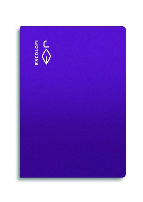 Libreta folio 50 hojas 70gr horizontal margen violeta
