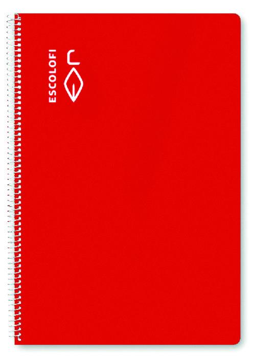 Bloc a4 80h 70g milimetrado rojo