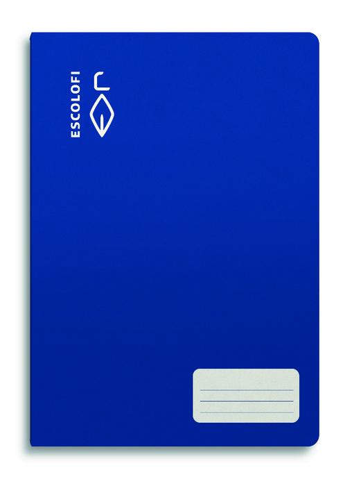 Libreta a4 32h 70g cuadro 4x4 azul