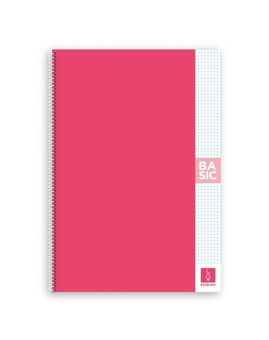 Bloc a4 80 hojas 80 gr 4x4 con margen rosa