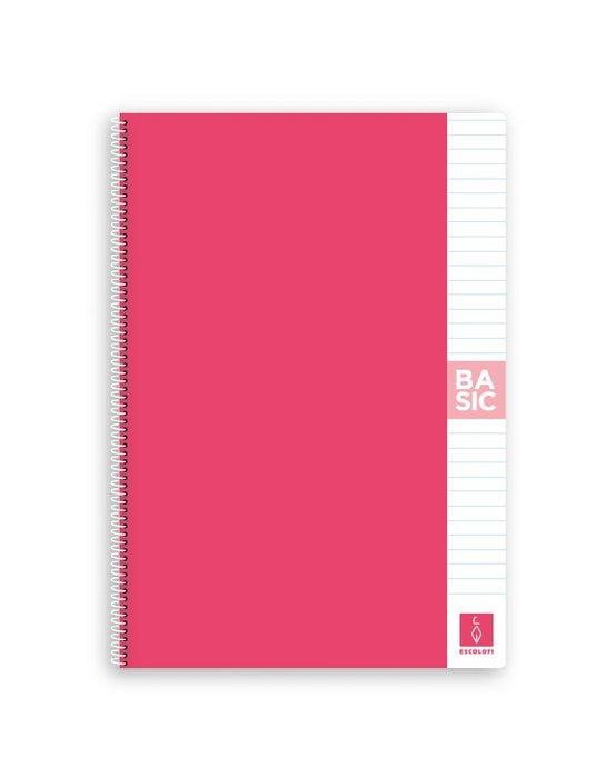 Bloc a4 80 hojas 80 gr horizontal rosa