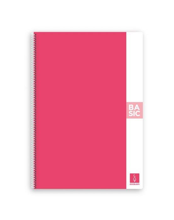 Bloc a4 80 hojas 80 gr liso rosa