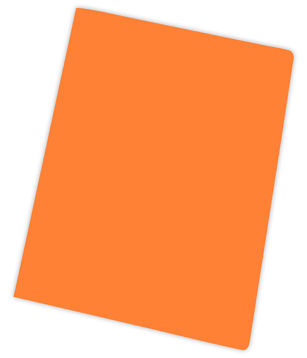 Subcarpeta a4 185gr naranja